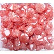 Кабошоны 15 мм «бриллиант» из персикового стекла