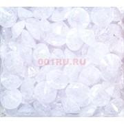 Кабошоны 15 мм «бриллиант» из белого стекла