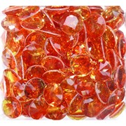 Кабошоны 15 мм «бриллиант» из оранжевого стекла