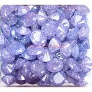 Кабошоны 15 мм «бриллиант» из фиолетового стекла