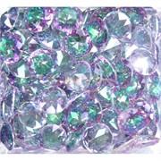Кабошоны 15 мм «бриллиант» из фиолетового фианита