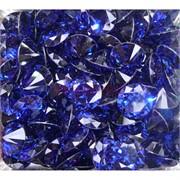 Кабошоны 15 мм «бриллиант» из синего стекла