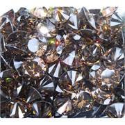 Кабошоны 15 мм «бриллиант» из коричневого стекла