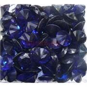 Кабошоны 20 мм «бриллиант» из синего стекла