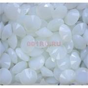 Кабошоны 20 мм «бриллиант» из белого стекла