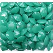 Кабошоны 20 мм «бриллиант» из зеленого стекла