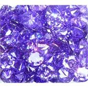 Кабошоны 20 мм «бриллиант» из фиолетового стекла