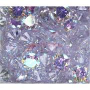 Кабошоны 20 мм «бриллиант» из белого фианита