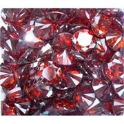 Кабошоны 20 мм «бриллиант» из красного стекла