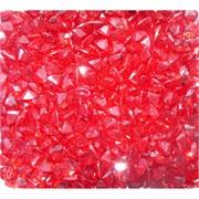 Кабошоны 7x9 зернышки из красного стекла