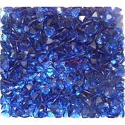 Кабошоны 7x9 зернышки из синего стекла