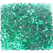 Кабошоны 7x9 зернышки из зеленого стекла