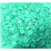 Кабошоны 7x9 зернышки из светло-зеленого стекла