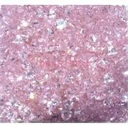Кабошоны 7x9 зернышки из розового стекла