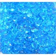 Кабошоны 7x9 зернышки из голубого стекла