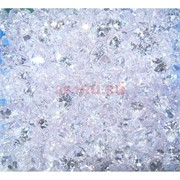 Кабошоны 7x9 зернышки из белого стекла