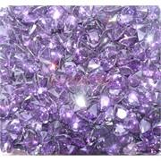 Кабошоны 7x9 зернышки из фиолетового стекла