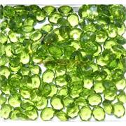 Кабошоны 8x10 «бриллиант» из светло-зеленого стекла