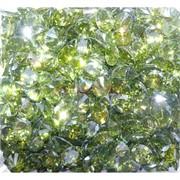 Кабошоны 8x10 «бриллиант» из зеленого стекла