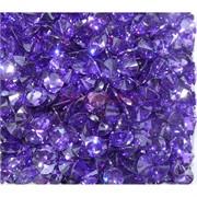 Кабошоны 8x10 «бриллиант» из синего стекла