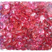 Кабошоны 8x10 «бриллиант» из ярко-розового стекла