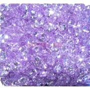 Кабошоны 8x10 «бриллиант» из сиреневого стекла