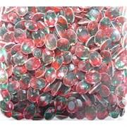 Кабошоны 8x10 «бриллиант» из красно-зеленого стекла
