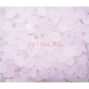 Кабошоны 8x10 «бриллиант» из стекла под розовый кварц