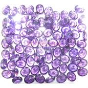 Кабошоны 8x10 «бриллиант» из фиолетового стекла