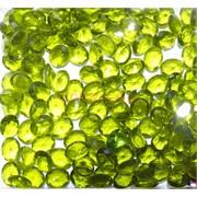 Кабошоны 8x10 «бриллиант» из стекла оливкового цвета