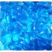 Кабошоны 10x20 граненые капли из голубого стекла
