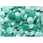 Кабошоны 12 мм «бриллиант» из зеленого стекла