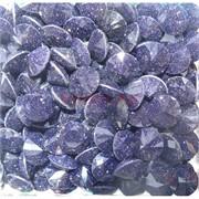 Кабошоны 12 мм «бриллиант» из стекла имитация синего авантюрина