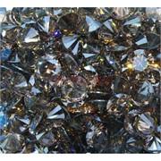 Кабошоны 12 мм «бриллиант» из коричневого стекла
