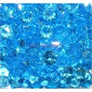 Кабошоны 12 мм «бриллиант» из светло-голубого стекла