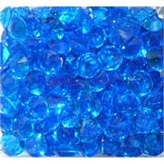 Кабошоны 12 мм «бриллиант» из голубого стекла