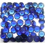 Кабошоны 12 мм «бриллиант» из синего стекла