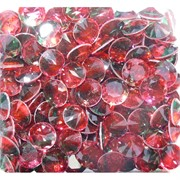 Кабошоны 12 мм «бриллиант» из красно-зеленого стекла