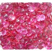 Кабошоны 10 мм «бриллиант» из ярко-розового стекла