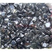 Кабошоны 10 мм «бриллиант» из черного стекла
