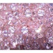 Кабошоны 10 мм «бриллиант» из розового стекла