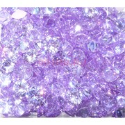 Кабошоны 10 мм «бриллиант» из сиреневого стекла
