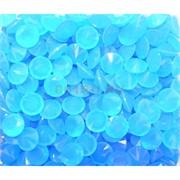Кабошоны 10 мм «бриллиант» из светло-голубого стекла