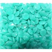 Кабошоны 10 мм «бриллиант» из светло-зеленого стекла