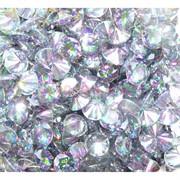 Кабошоны 10 мм «бриллиант» из белого фианита