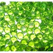 Кабошоны 10 мм «бриллиант» из зеленого стекла