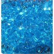 Кабошоны 10 мм «бриллиант» из голубого стекла