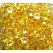 Кабошоны 10 мм «бриллиант» из желтого стекла