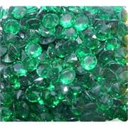 Кабошоны 10 мм «бриллиант» из стекла изумрудного цвета