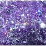 Кабошоны 10 мм «бриллиант» из фиолетового фианита